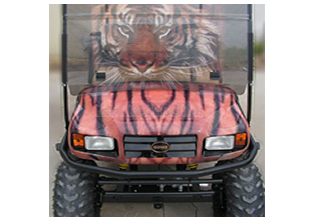 Golf cart wrap designed by Custom Graphics and Signs