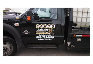 Truck door decal by Custom Graphics and Signs