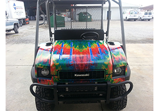 Golf cart wrap by Custom Graphics and Signs