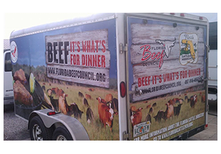 Full trailer wrap by Custom Graphics and Signs