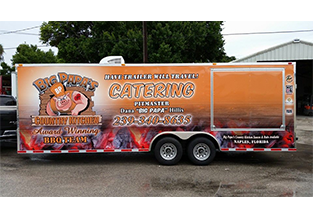 Full trailer wrap by Custom Graphics and Signs, Florida